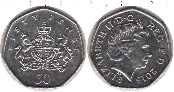 Картинка Мелочь Великобритания 50 пенсов Медно-никель 2013