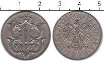 Изображение Мелочь Польша 1 злотый 1929 Медно-никель XF