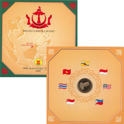 Изображение Подарочные монеты Бруней 30-летие независимости 1997 Медно-никель Proof