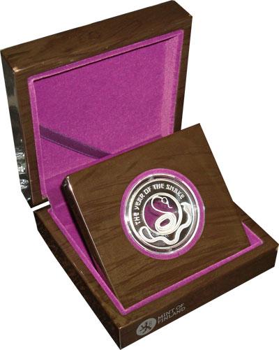 Изображение Монеты Фиджи 1 доллар 2013 Серебро Proof Подарочная монета по
