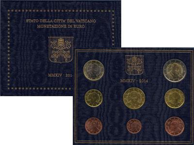Изображение Подарочные монеты Ватикан Евронабор 2014 года 2014  UNC Подарочный набор 201