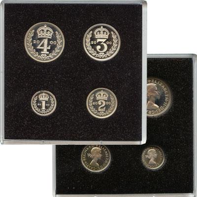 Изображение Подарочные наборы Великобритания Маунди-сет 2000 (Благотворительный набор) 2000 Серебро Proof