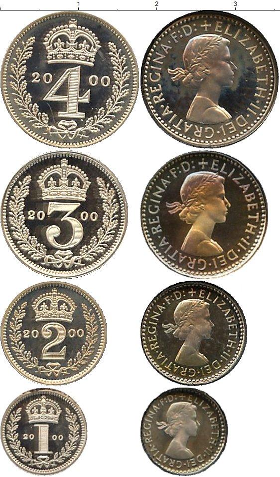 Картинка Подарочные монеты Великобритания Маунди-сет 2000 (Благотворительный набор) Серебро 2000