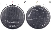 Изображение Мелочь Бразилия 1 крузейро 1985 Медно-никель UNC-