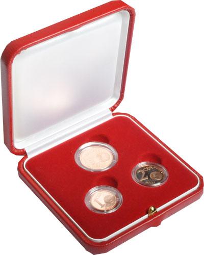 Изображение Подарочные наборы Монако Набор евроцентов 2005  Proof Набор евроцентов Мон