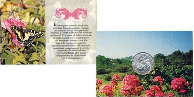 Изображение Подарочные наборы Италия Фауна 1994  UNC Монета посвящена ред