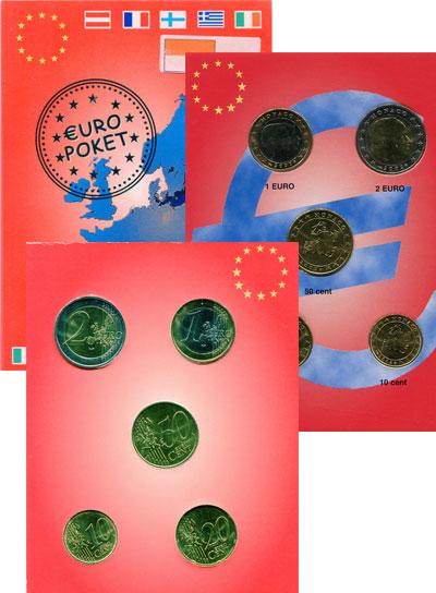 Изображение Подарочные монеты Монако Набор монет 2002 года 2002   Набор из 5 монет: 10