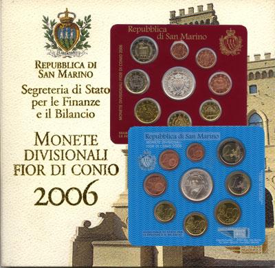 Изображение Подарочные монеты Сан-Марино Выпуск монет 2006 года 2006