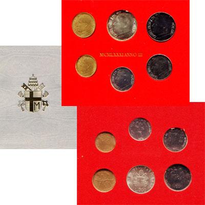 Изображение Подарочные наборы Ватикан Anno III 1981 1981  UNC В наборе 6 монет: 10