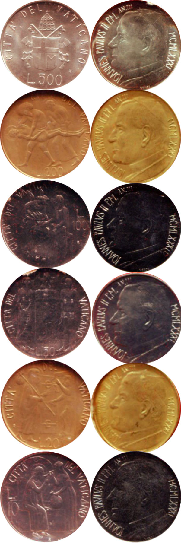 Картинка Подарочные монеты Ватикан Anno III 1981  1981