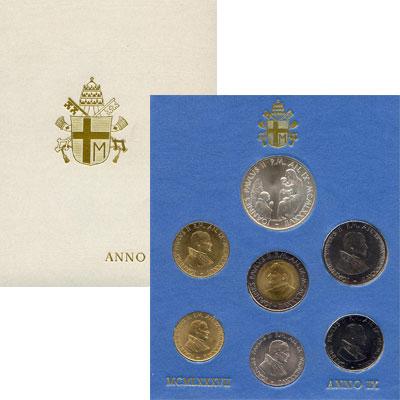 Изображение Подарочные наборы Ватикан Anno IX 1987 1987  UNC В наборе 7 монет: 10