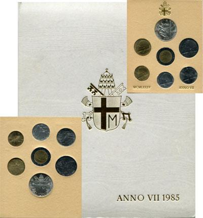 Изображение Подарочные наборы Ватикан Anno VII 1985 1985  UNC