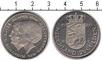 Изображение Мелочь Нидерланды 2 1/2 гульдена 1980 Медно-никель UNC-
