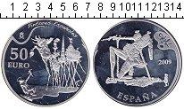 Изображение Монеты Испания 50 евро 2009 Серебро Proof- Картина «Искушение с