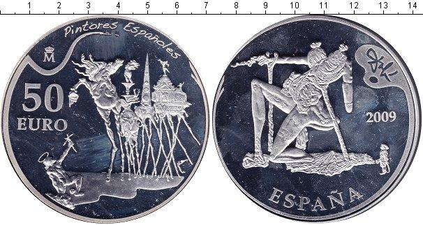 Картинка Монеты Испания 50 евро Серебро 2009