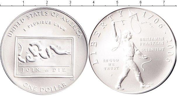 Картинка Монеты США 1 доллар Серебро 2006