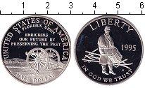 Изображение Монеты США 1/2 доллара 1995 Серебро Proof-