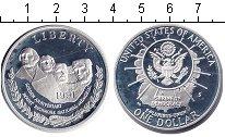 Изображение Монеты США 1 доллар 1991 Серебро Proof- Золотой юбилей Нацио