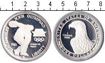 Изображение Монеты США 1 доллар 1983 Серебро Proof- XXIII Олимпиада