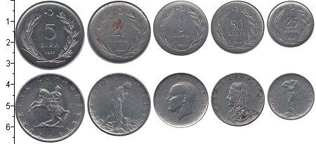 Изображение Наборы монет Турция Турция 1962-1977 0 Медно-никель XF В наборе 5 монет ном