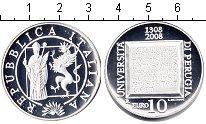 Изображение Монеты Италия 10 евро 2008 Серебро Proof