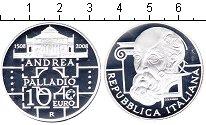 Изображение Монеты Италия 10 евро 2008 Серебро Proof 500 лет со дня рожде