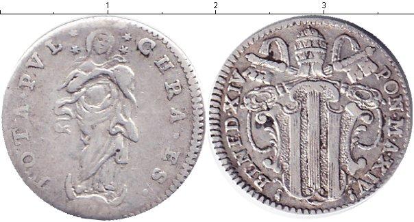 Картинка Монеты Ватикан 1 гроссо Серебро 1747
