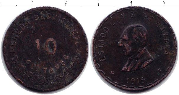 Картинка Мелочь Мексика 10 сентаво Медь 1915