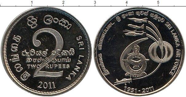 Картинка Мелочь Шри-Ланка 2 рупии Медно-никель 2011
