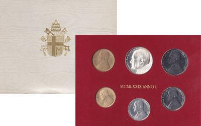 Изображение Подарочные наборы Ватикан 1979 ANNO I 1979  UNC