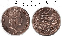 Изображение Монеты Остров Мэн 5 фунтов 1993  UNC- Елизавета II