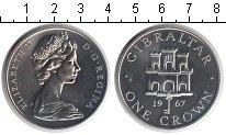 Изображение Монеты Великобритания Гибралтар 1 крона 1967 Медно-никель UNC-