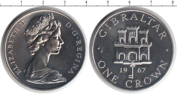 Картинка Монеты Гибралтар 1 крона Медно-никель 1967