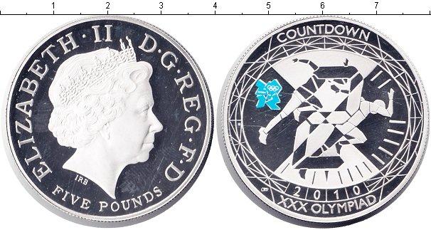 Картинка Монеты Великобритания 5 фунтов Серебро 2010