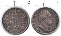 Изображение Монеты Великобритания 6 пенсов 1834 Серебро VF