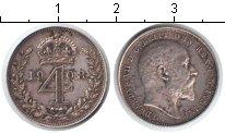 Изображение Монеты Великобритания 4 пенса 1908 Серебро XF Эдвард VII