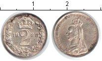 Изображение Монеты Великобритания 2 пенса 1888 Серебро XF Виктория