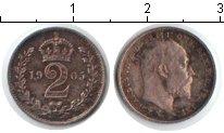 Изображение Монеты Великобритания 2 пенса 1905 Серебро XF Эдвард VII