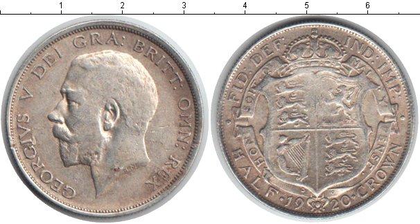 Картинка Монеты Великобритания 1/2 кроны Серебро 1920