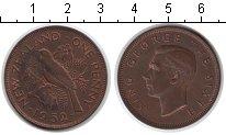 Изображение Монеты Новая Зеландия 1 пенни 1952 Медь XF