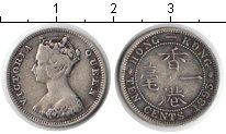 Изображение Монеты Гонконг 10 центов 1893 Серебро  Виктория