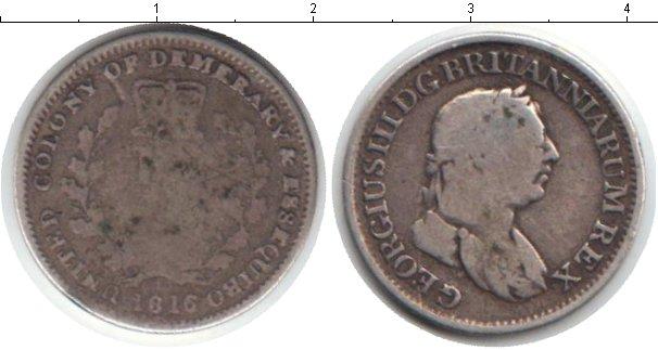 Картинка Монеты Эссекуибо и Демерара 1/4 гуильдера Серебро 1816