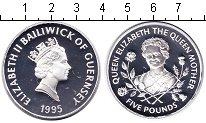 Изображение Монеты Гернси 5 фунтов 1995 Серебро Proof- Елизавета II
