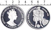 Изображение Монеты Фолклендские острова 2 фунта 1996 Серебро Proof- Елизавета II. Генрих