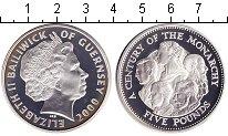 Изображение Монеты Гернси 5 фунтов 2000 Серебро Proof-