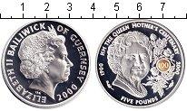 Изображение Монеты Гернси 5 фунтов 2000 Серебро Proof- Елизавета II.