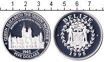 Изображение Монеты Белиз 5 долларов 1995 Серебро Proof- замок
