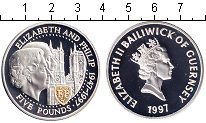 Изображение Монеты Великобритания Гернси 5 фунтов 1997 Серебро Proof-