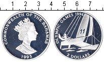 Изображение Монеты Багамские острова 2 доллара 1995 Серебро Proof- Елизавета II. Олимпи