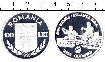Изображение Монеты Румыния 100 лей 1996 Серебро Proof- XXVI Олимпиада